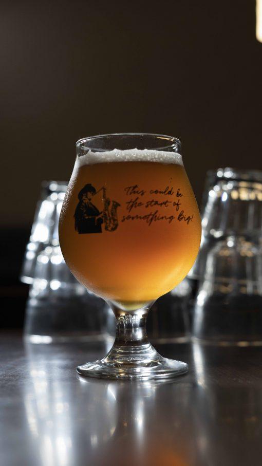 Big Man's Brew Beer Glass Back