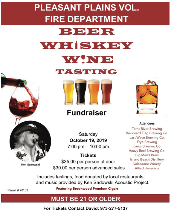 Big Man's Brew at the Pleasant Plains Vol. Fire Dept. Beer, Whiskey, and Wine Tasting 2019