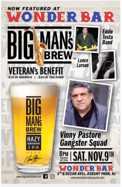 Big Man's Brew now featured at The Wonder Bar in Asbury Park, NJ