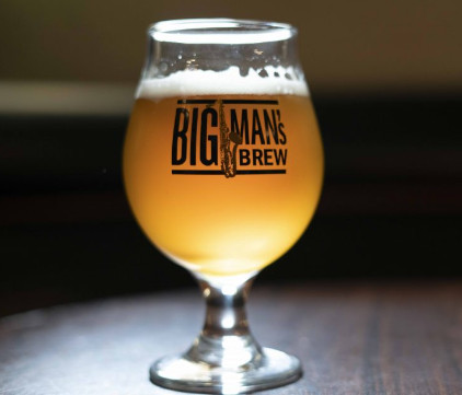 Big Man's Brew Beer Glass Front