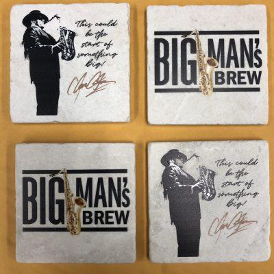 Big Man's Brew Stone Coasters