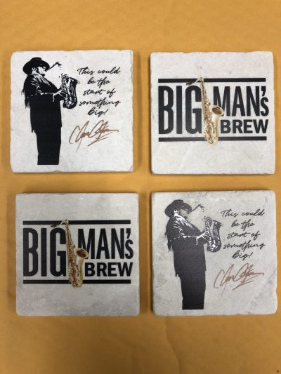 Big Man's Brew Stone Coasters