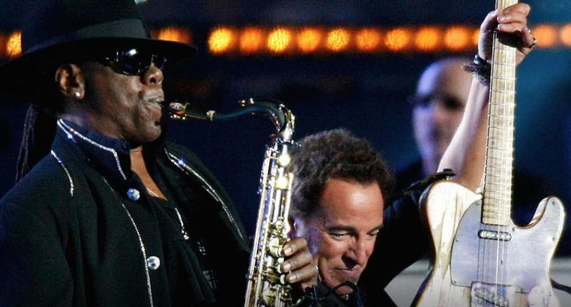 Ultimate Classic Rock - Top 10 Clarence Clemons Songs on Big Man's Brew - Image of Clarence Clemons performing with Bruce Springsteen